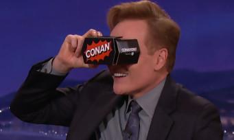 Conan O'Brien essaye la réalité virtuelle avec le HTC Vive et c'est bien marrant