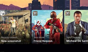PS5 : voilà ce que pourrait donner l'interface avec d'autres jeux, il y a GTA 5