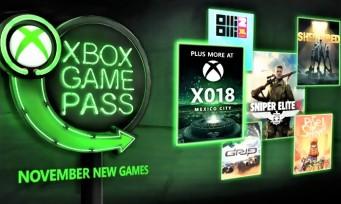 xbox game pass 5 nouveaux jeux arrivent en novembre. Black Bedroom Furniture Sets. Home Design Ideas