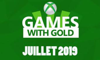 Xbox Live : Microsoft dévoile la liste des jeux gratuits pour juillet 2019