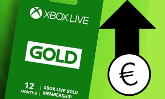 Xbox LIVE Gold : Microsoft augmente ses prix, c'est assez conséquent !