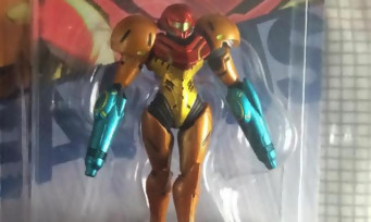 amiibo : il reçoit une figurine Samus Aran avec deux bras-canons !