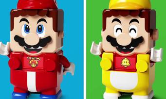 LEGO Super Mario : voici les packs de costumes, il y a aura Mario Feu, Mario Chat et Mario Ouvrier