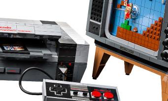 LEGO Nintendo NES : la célèbre console et une TV cathodique en briques de construction