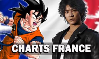 Charts France : DBZ Kakarot et Lost Judgment dans les meilleures ventes de jeux vidéo
