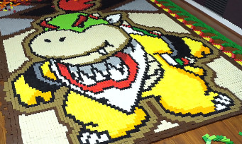 Bowser Jr. : le fils de Bowser reproduit avec 23 400 dominos, la vidéo qui force le respect