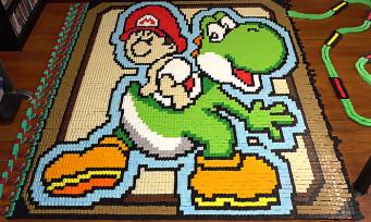 Nintendo : un sublime hommage à Yoshi's Island en 136 780 dominos, 5 min de bonheur pour les yeux