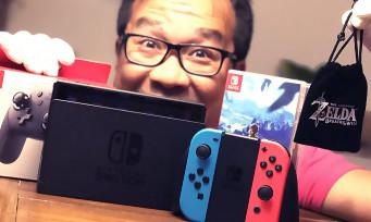 Nintendo Switch : notre unboxing de la console, de la manette Pro et d'un goodies spécial Zelda