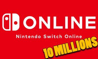 Nintendo Switch Online : le cap des dix millions d'abonnés franchi, Big N se félicite