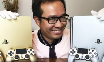 PS4 Slim Gold & Silver : notre unboxing avec nos gants blancs de velours
