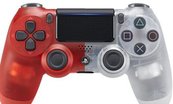 PS4 : les DualShock 4 translucides Crystal et Red Crytal sont en vente, voici leur trailer respectif