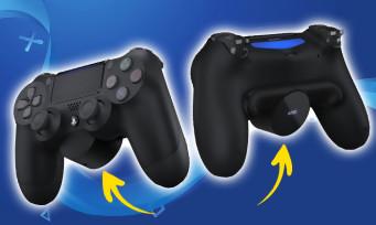 PS4 : Sony vient d'annoncer une extension à fixer à l'arrière de la DualShock 4