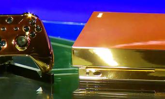 Xbox One X : Microsoft a fabriqué une console en Or 24 carats qu'on peut gagner, la voici en vidéo