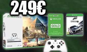 Xbox One S : un pack 500 Go + 2è manette + 3 jeux (Forza 7, Rainbow Six Siege) à 249€ chez Micromania