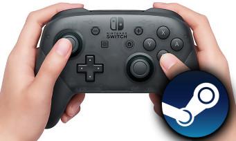Nintendo Switch : la manette Pro compatible avec Steam, voilà comment faire pour l'utiliser