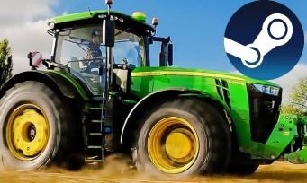 Charts Steam : Farming Simulator 19 grimpe sur le trône !