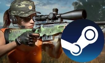 Charts Steam : PUBG remonte en haut du classement
