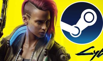 Charts Steam : Cyberpunk 2077 est toujours en tête du classement des meilleures ventes