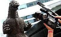Tokyo Game Show : Marcus face à la statue de Godzilla à Ginza Tokyo