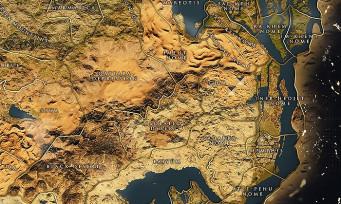 Assassin's Creed Origins : voici la map du jeu et elle promet d'être massive !