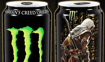 Assassin's Creed Origins : des armes exclusives à récupérer sur les canettes de Monster, voici les détails
