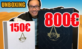 Assassin's Creed Origins : 2 unboxings en 1 avec les collectors à 150€ et 800€ !