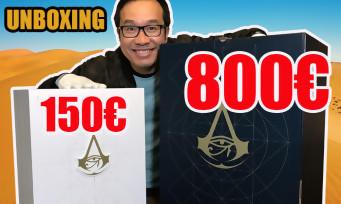 Assassin's Creed Origins : 2 unboxings en 1 avec les collectors à 150€ et 800€ !