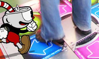 Cuphead : un joueur finit le jeu avec un tapis Dance Dance Revolution