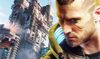 Cyberpunk 2077 : un joli screenshot en 4K des buildings, Night City à la dérive