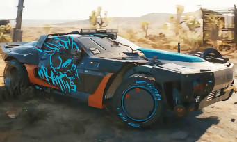 Cyberpunk 2077 : un nouveau véhicule et un paysage désertique, on pourra sans doute sortir de Night City