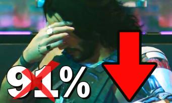 Cyberpunk 2077 : la note PC sur Metacritic n'est plus à 91%, elle a beaucoup baissé