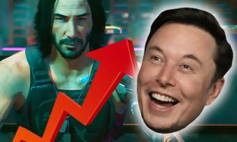 Cyberpunk 2077 : Elon Musk crie son amour pour le jeu, l'action en bourse explose
