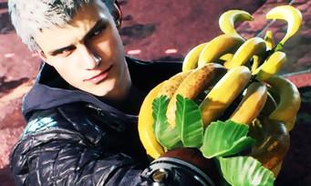Devil May Cry 5 : Quand le bras de Nero se voit remplacé par des bananes, seulement au Japon