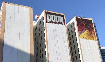 DOOM Eternal : la fresque murale pour l'E3 2019 est presque terminée, voilà le résultat