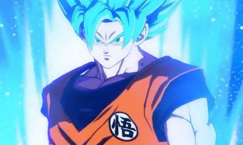 Dragon Ball FighterZ : Goku (Super Saiyan Blue) se déchaîne en vidéo