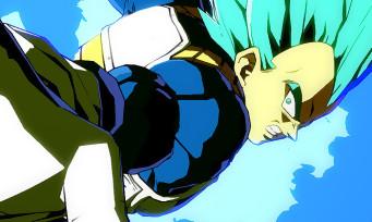 Dragon Ball FighterZ : un trailer avec Vegeta en Super Saiyan Blue qui malmène Goku