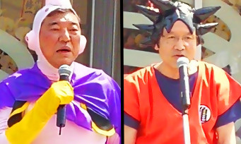 Dragon Ball Z : au Japon, des politiciens se sont déguisés en Son Goku et Majin Buu