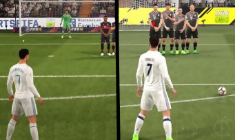 fifa 17 vs fifa 18 comparatif en vid o sur le gameplay. Black Bedroom Furniture Sets. Home Design Ideas