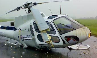 Flight Simulator X : un hélicoptère se crashe lors d'un press tour de Microsoft, les images