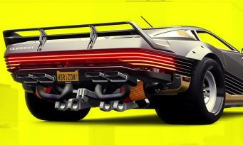 Forza Horizon 4 : l'iconique Quadra de Cyberpunk 2077 est dispo dans le jeu, un trailer tonitruant