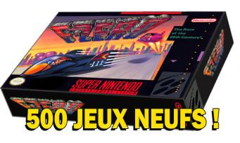 F-Zero : PixelHeart met en vente des jeux neufs PAL de l'époque, il y en a que 500 !