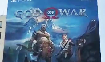 GOD OF WAR : la fresque géante à Los Angeles est terminée, voici la vidéo