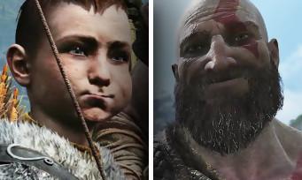 """GOD OF WAR : le mode """"Photo"""" se présente en vidéo, Kratos et Atreus avec des têtes rigolotes"""