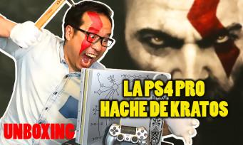 """GOD OF WAR : on vous unboxe la PS4 Pro """"Leviathan Grey"""" en forme de hache"""
