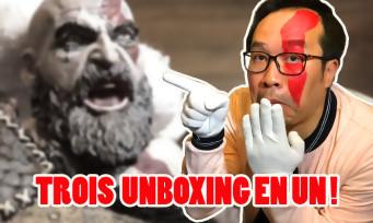 GOD OF WAR : trois unboxing en un, la statue de Kratos + le press kit + le steelbook