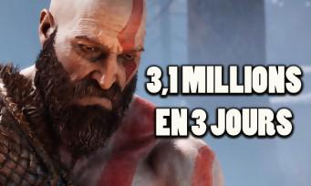 GOD OF WAR : 3,1 millions d'exemplaires vendus en 3 jours, un nouveau record établi