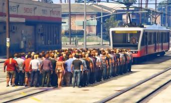 GTA 5 : il masse 100 personnages sur le chemin d'un tramway et flingue le moteur physique du jeu !