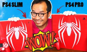 SPIDER-MAN : notre UNBOXING COMPLET des 2 PS4 ultra collectors, la Slim et la Pro