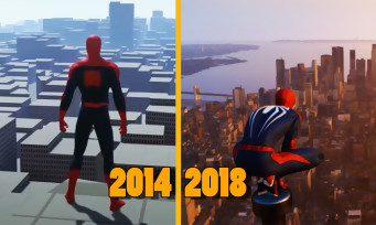 Spider-Man : une vidéo retrace l'évolution du jeu pendant quatre ans, ça en jette