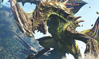 Monster Hunter World : une longue vidéo de gameplay où l'on terrasse un énorme dinosaure